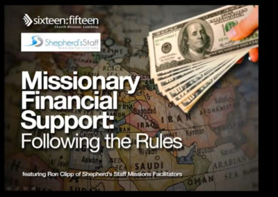 Missionary Financial Support Following the Rules