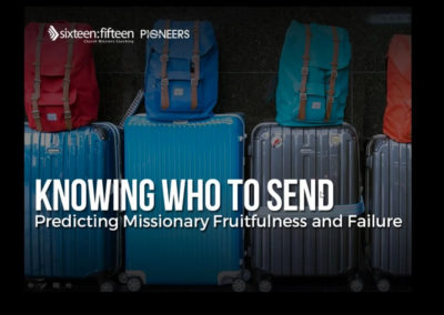 Knowing Who To Send Predicting Missionary Fruitfulness and Failure