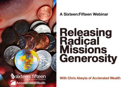 Releasing Radical Missions Generosity