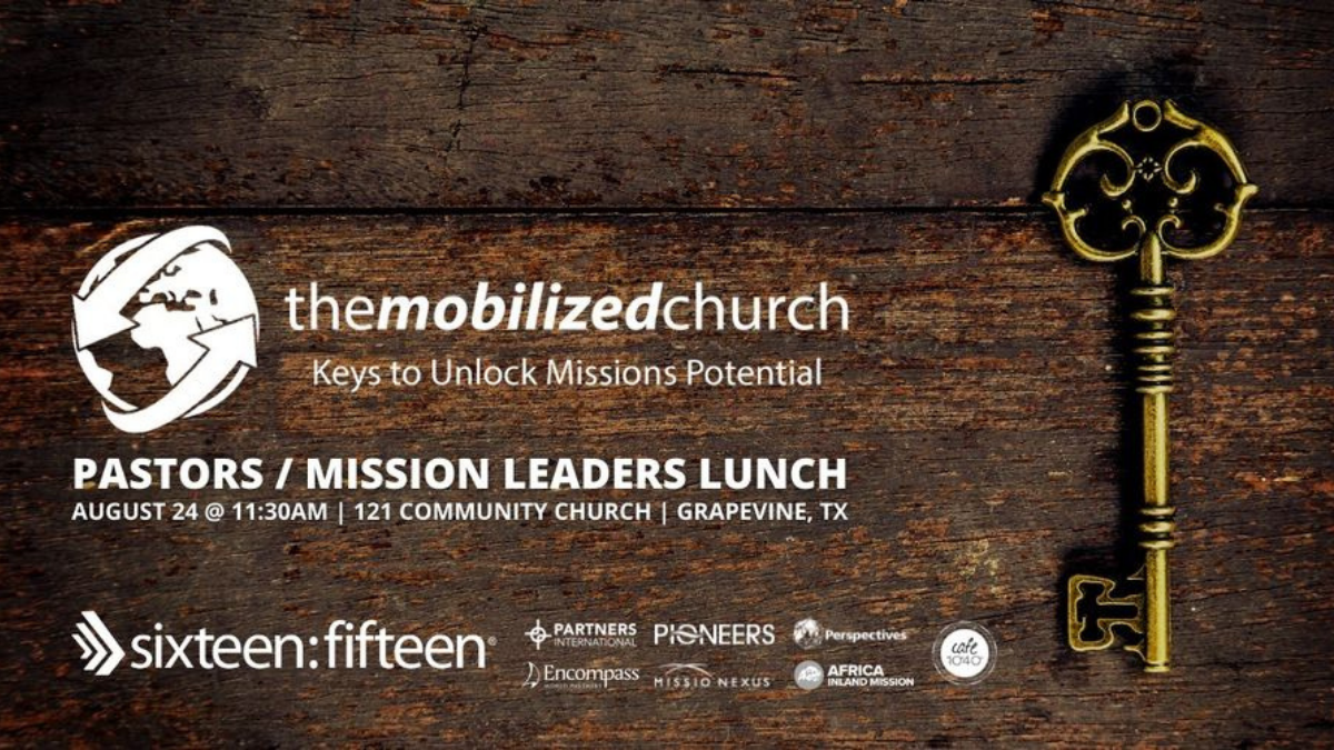 Aug 24, 2021   Luncheon for Pastors and Mission Leaders