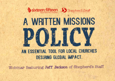 Written Missions Policy